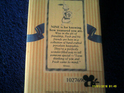 Disney ,Pooh & Friends, NINE is for knowing how treasured you are, 1027690