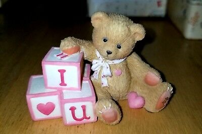 NEW Cherished Teddies - I Love You - 156515 - Bear With Love Letters