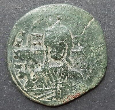 Byzantine coin bronze. Anonymous follis class A(John I)