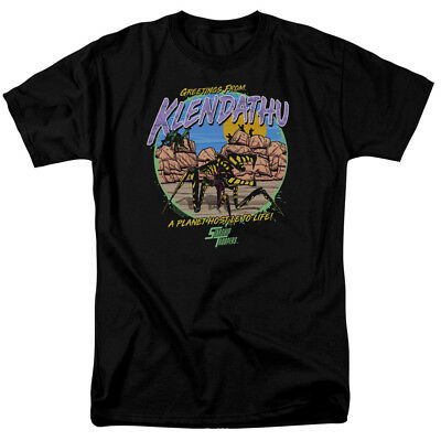 Starship Troopers T-Shirt Greetings From Klendathu Black Tee
