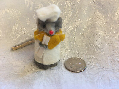 Vintage Little MOUSE Factory GRADUATE Fur Mice Doll Toy Dressed Figure Germany
