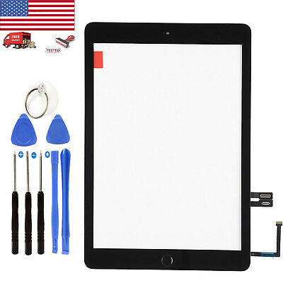 Black For iPad 6th 2018 Gen A1893 A1954 Touch Screen Digitizer Glass+Home Button