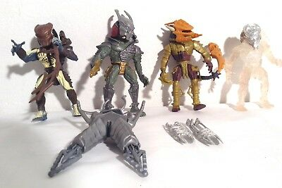 "RARE VINTAGE Lot of 4 ""PREDATOR"" ACTION FIGURES w/ ACCESSORIES Kenner 1992-94"