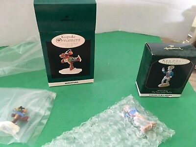 2 Hallmark Miniature Ornaments , Mouse King Nutcracker, A Gift From Rodney,
