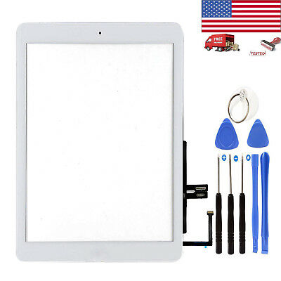 """White For iPad 6th 2018 Gen 9.7"""" A1893 A1954 Touch Screen Digitizer Glass+Button"""