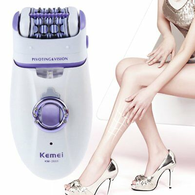 Kemei 2in1 Hair Removal Rechargeable Electrical Lady Epilator Shaver Cordless AZ