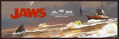 JC Richard - Jaws The Chase w/ Title - Amity '74 Print Poster Screenprint x/125