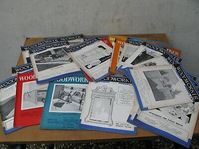 VINTAGE 30 Copies of WOODWORKER MAGAZINE From 1951 -1960