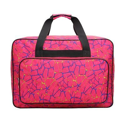 Unisex Large Capacity Travel Portable Tote Sewing Machine Bags(Rose Red) SL#
