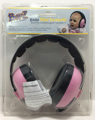 Baby Banz Pink Mini Earmuffs For Ages 3 Months+ W26-A8