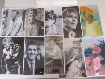 Billy Fury 8 Black & White & 2 Colour Reproduced Laminated A4 Pictures