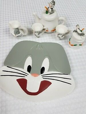 BUGS BUNNY Looney Tunes Mini Tea Set 1998 SIX FLAGS 8 pcs D774