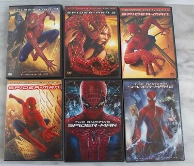 Spider-man Movie Lot 6 Movies