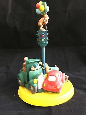 """CURIOUS GEORGE Music Box By Westland """"Up, Up And Away"""" Lights"""