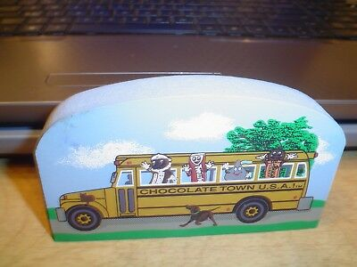 Cats Meow 2000 Hershey's Chocolate Town USA School Bus PRICE CUT