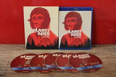 Planet of the Apes: 5-Film Legacy Collection (Blu-ray Disc, 2012, 5-Disc Set)VG!