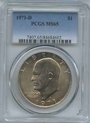 Estate Sale 1971-D 1973 1977 Pcgs Ms-65 Eisenhower Dollars All 3 Coins One Money