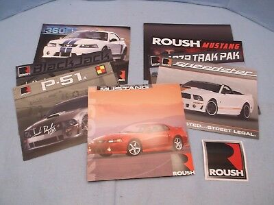 Lot 11 of Roush Mustang Dealer Spec Cards and Brochures-2001, 2002, 2007, 2008