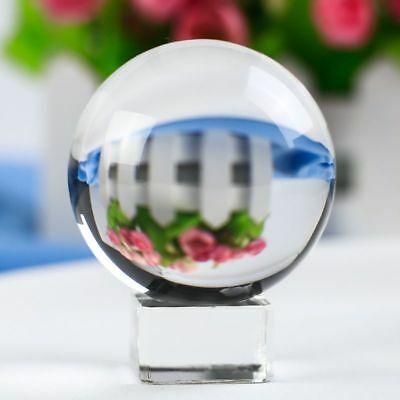 Crystal Ball FengShui Craft Paperweight Clear Glass Magic Ball For Birthday Gift