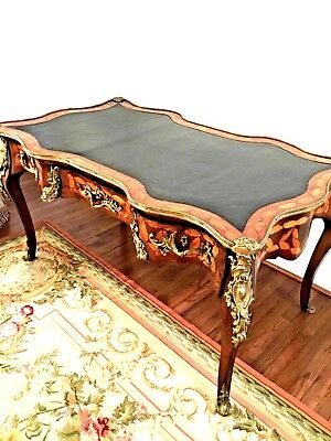 Antique French Desk With Wood inlay