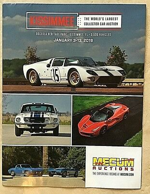 MECUM Auctions Collector Car Kissimmee 2019 Big Full Color 2 sided Poster NEW