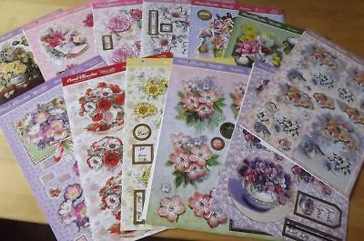 Assorted Hunkydory Floral Favourites Deco Large Die-cut Decoupage Sets