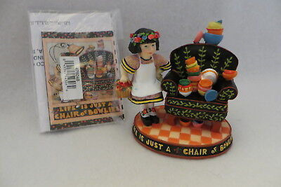 """""""life Is Just A Chair Of Bowlies"""" Mary Engelbreit Enesco Figure #476048 - Mib"""