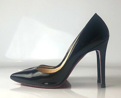 los angeles d9d0d 0f87a CHRISTIAN LOUBOUTIN PIGALLE 100 Black Patent Leather Heels Pumps Euro Size  36