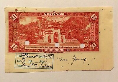 1  ENGRAVER'S PROOF, SOUTH VIETNAM 1956 NGAN-HANG-QUOC-GIA,  10 Muoi Dong
