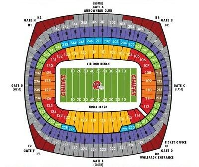 2 Kansas City Chiefs Playoff tickets Vs Indianapolis Colts 1/12. 30yrd Line...
