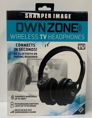 OwnZone Wireless Listening Headphones Aid Device Own Zone Sharper Image For TV