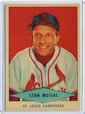 Stan Musial 1954 Red Heart Baseball Card St.Louis Cardinals / REPRINT