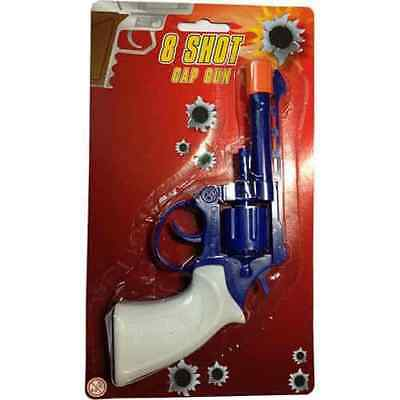 8 Shot Cap Gun Pistol Revolver Sure 8 Shot Kids Child Toy Ring Cowboy Fancy Dres