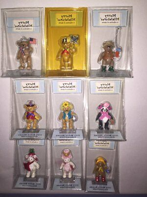 Itty Bitty Bears Collection Lot of 9 Merry Miniatures in Packages