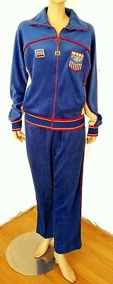 VTG 1984 LEVI'S OFFICIAL OLYMPICS TRACK SUIT WARM-UP SUIT SWEATS USA MADE sz M