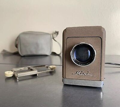 Vintage 1960s Minolta Mini 35 Slide Projector Kit & Case - Works!