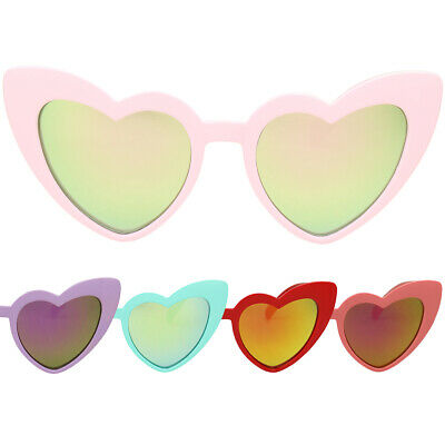 ShadyVEU Kids Girl Cute Trendy Heart Shaped Mirrored Colorful Toddler Sunglasses