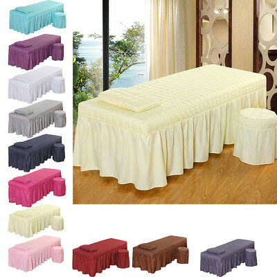 190x80cm Beauty Massage Bed Skirt with Breath Hole Pillowcase Stool Cover
