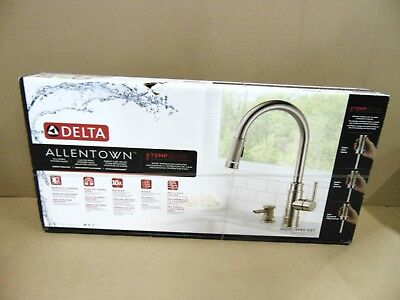 Delta Allentown Single-Handle Pull-Down Sprayer Kitchen Faucet TempSense