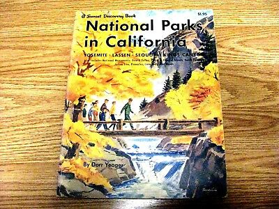 "Vintage Sunset Discovery Book ""National Parks in California"" 1959"