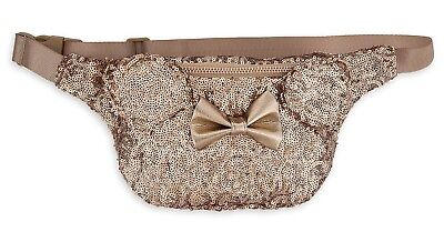 Loungefly Disney Parks Exclusive Rose Gold Minnie Mouse Hip Pack