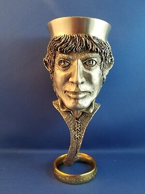 Lord of the Rings Royal Selangor Frodo Pewter & Gold Goblet Collectible Boxed
