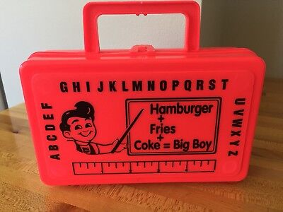 Big Boy Kids Promo Advertising School Pencil Meal Box 90s New Whirley Toy