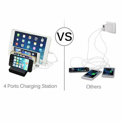 Multi Device USB Charging Station Storaging for Smartphones  iPad Android AZ