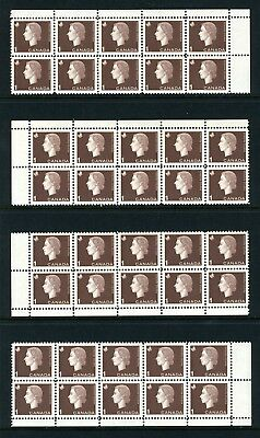 CANADA Scott 401 - LH - Matched Set - 1¢ Brown Cameo (.016)