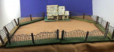 Vintage Christmas Tree Fence AND House w/Mica Feather Tree, Christmas Train Yard