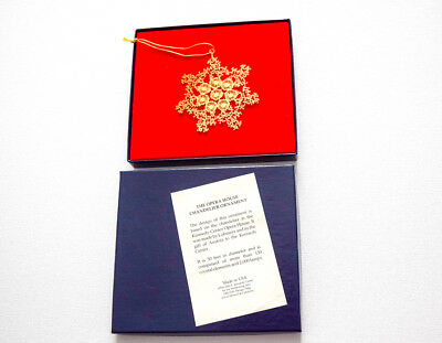 NEW!  Opera House Chandelier Snowflake Ornament, Kennedy Center Performing Arts.