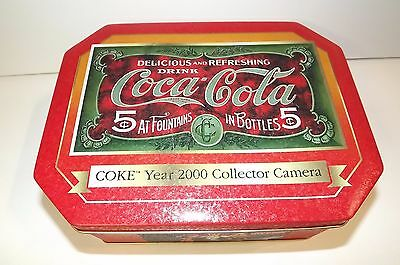 Coca-Cola _Coke Year 2000 Collector Camera Tin  _ Red Coca Cola Tin Only