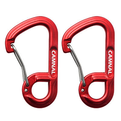 2x Aluminum Alloy Wiregate Carabiners Clip Snap Spring Hook Keychain Buckle