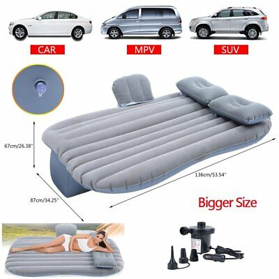 Bigger Inflatable Mattress Car Air Bed Backseat Cushion Travel w/ Pillow Pump BE